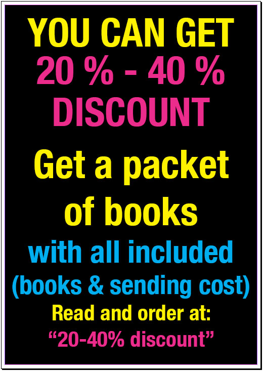 "<font color=""black""><strong>3) A PACKET OF BOOKS. MAIL INCLUDED<br> 20-40% DISCOUNT <br></strong><font color=""blue""> Click to read more."
