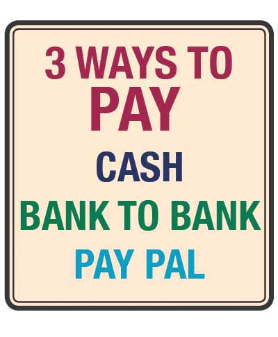<strong><font color=&quot;black&quot;>4) 3 WAYS TO PAY: <br> </strong>Click to read more