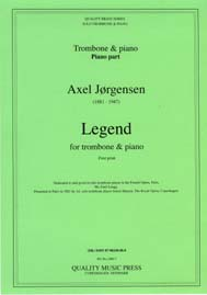 "<strong>JORGENSEN, Axel (1881-1947).</strong>  <BR>Legend. For solo Trombone & piano.<br><font color=""blue"">CLICK & READ..."