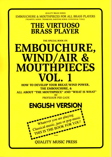 "<strong><font color=""black""> SPECIAL BOOK ON  <br>  EMBOUCHURE, WIND/AIR & <br> MOUTHPIECES. VOL. 1.  <br><font color=""red""> ENGLISH TEXT. <br</strong>  <br><font color=""black""></strong>How to develop your breath/wind power, the embouchure,   <br>  &"