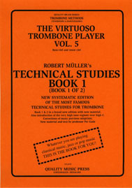<strong><font color=&quot;black&quot;> 5A) The Virtuoso Trombone Player. Vol. 5.</strong> <BR>Robert Muller-Per Gade. Book 1. <br>(Bass and tenor clef).<br></strong><font color=&quot;blue&quot;>Click on picture to read more.