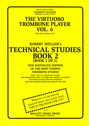 <strong><font color=&quot;black&quot;> 6A) The Virtuoso Trombone Player. Vol. 6.</strong><BR>Robert Muller-Per Gade. Book 2. <br>(Bass and tenor clefs).<br></strong><font color=&quot;blue&quot;>Click on picture to read more.
